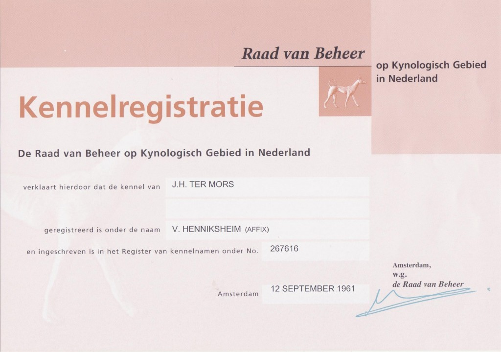 kennel registratie 001